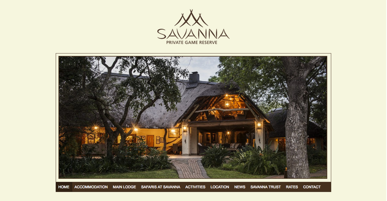 Visual 8 SAVANNA Website